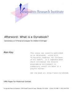 What is a Dynabook - coverimage and web link