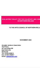 Voluntary Community Arts evaluation toolkit
